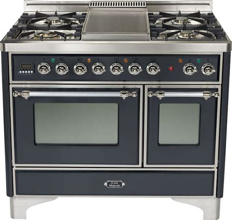 Ilve UMD100FMPMX 40 Inch Traditional-Style Dual Fuel Range