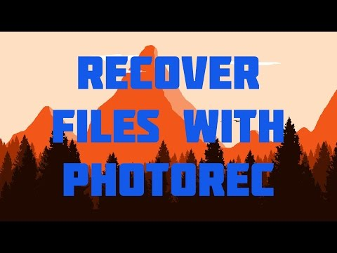 How to recover your deleted files using Photorec even
