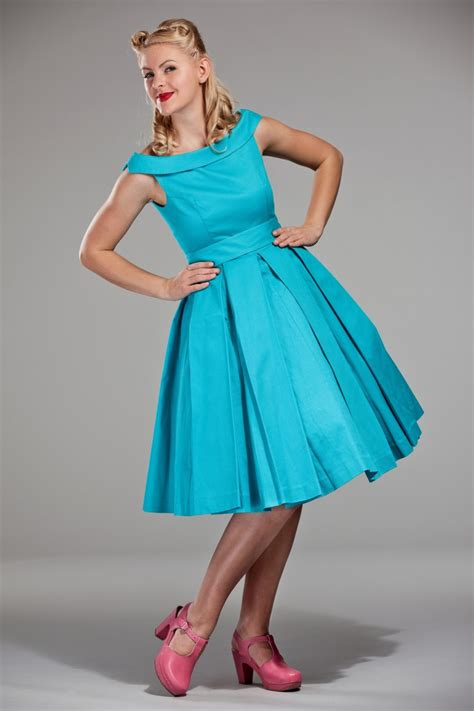 60s Celebration Dress in Turquoise