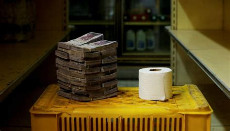In Venezuela, it's cheaper to use cash than toilet paper