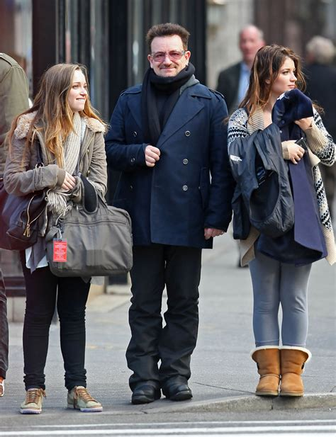 Jordan Hewson in Bono And His Daughters Out For A Walk In