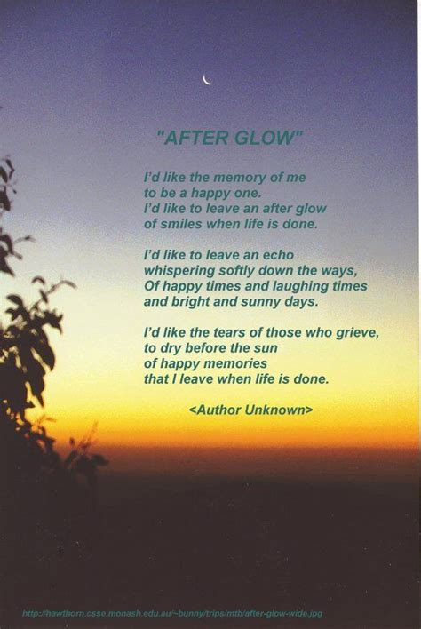 """""""Afterglow"""" Author; Helen Lowrie Marshall   Poems Of"""