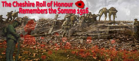 Cheshire Fallen on the Somme 1 July 1916 | The Cheshire