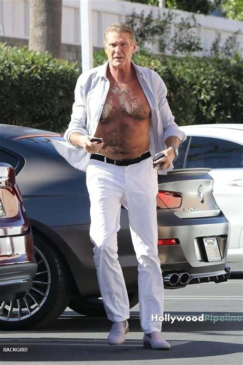 David Hasselhoff Takes His Hairy Chest Out For Some Fresh