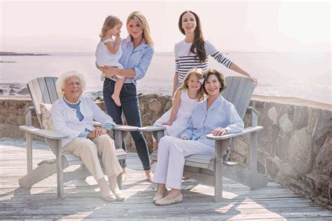 Four Generations of Bush Women Pose for Portrait in