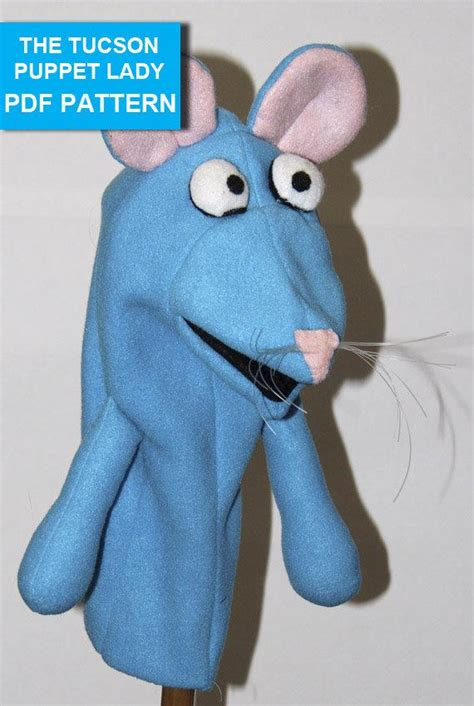 Mouse Hand Puppet Pattern with Movable Mouth