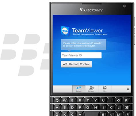 Use your BlackBerry to access remote computers