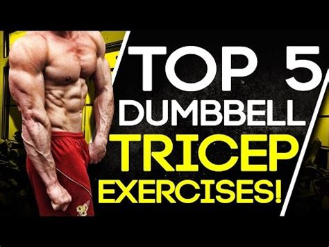 Top 5 Dumbbell Tricep Exercises! Build Muscle & Strength