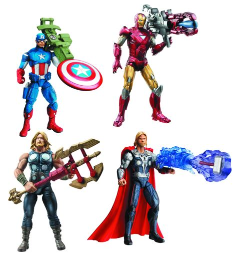 THE AVENGERS Toy Images Featuring Hulk, Iron Man, and