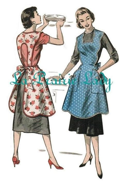 Vintage Full Apron 50's PDF Pattern No 22 Available in
