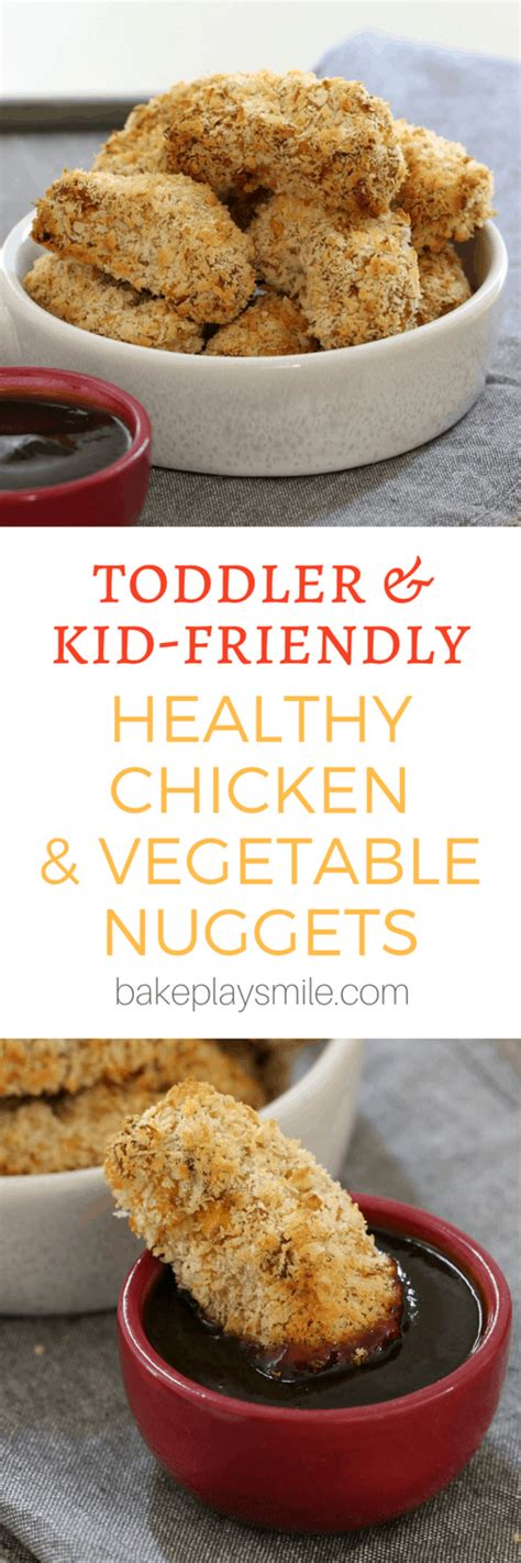Healthy Chicken & Vegetable Nuggets (oven baked) - Bake