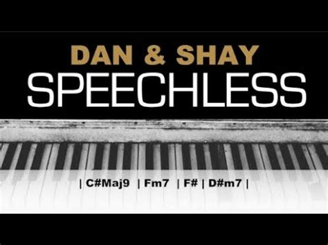 Dan + Shay - Speechless Karaoke Chords Acoustic Piano