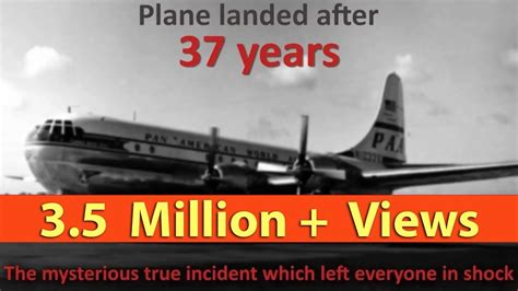 A missing plane from 1955 landed after 37 years   Riddle
