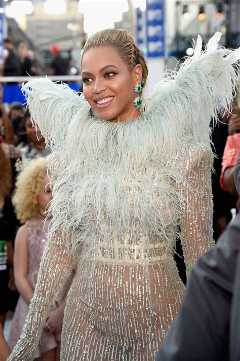 Beyonce in Pale Blue Francesco Scognamiglio Dress at the