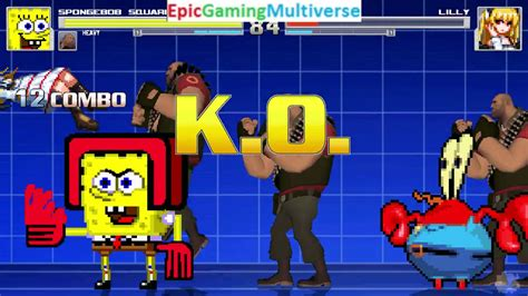 Team Fortress 2 Characters (The Heavies) And SpongeBob VS