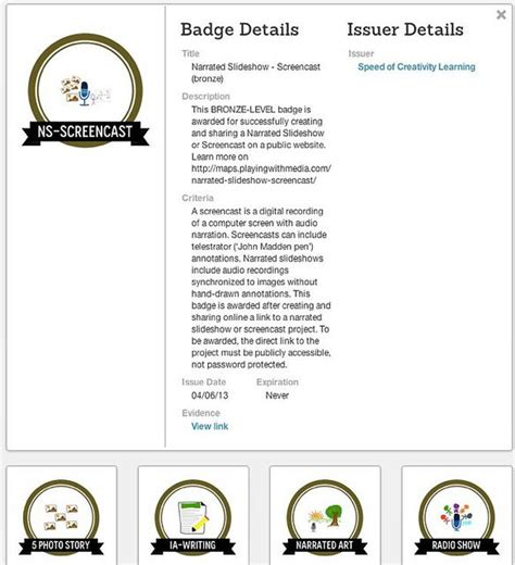 Credly-powered Digital Badges for Mapping Media to the