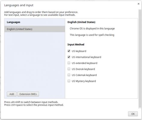 Chrome OS tip: Change the keyboard layout quickly to