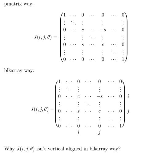 matrices - how to vertical align text before blockarray in
